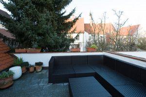 Stadthaus-Dachterrasse