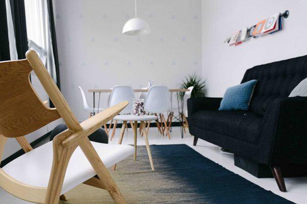 moderne Einrichtung staging Prinz Immobilien Wohnbereich