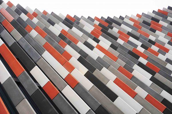 moderne rot grau Fassade